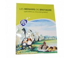 boite de menhirs de Bretagne en chocolat