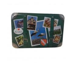 Boite valise décor alsace