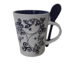Mug Triskell bleu et blanc