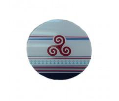 Dessous plat rond avec triskel
