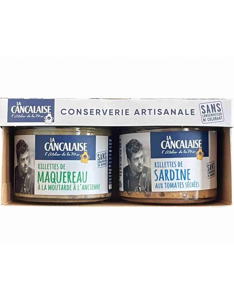 Duo de rillettes de Sardines et Maquereau