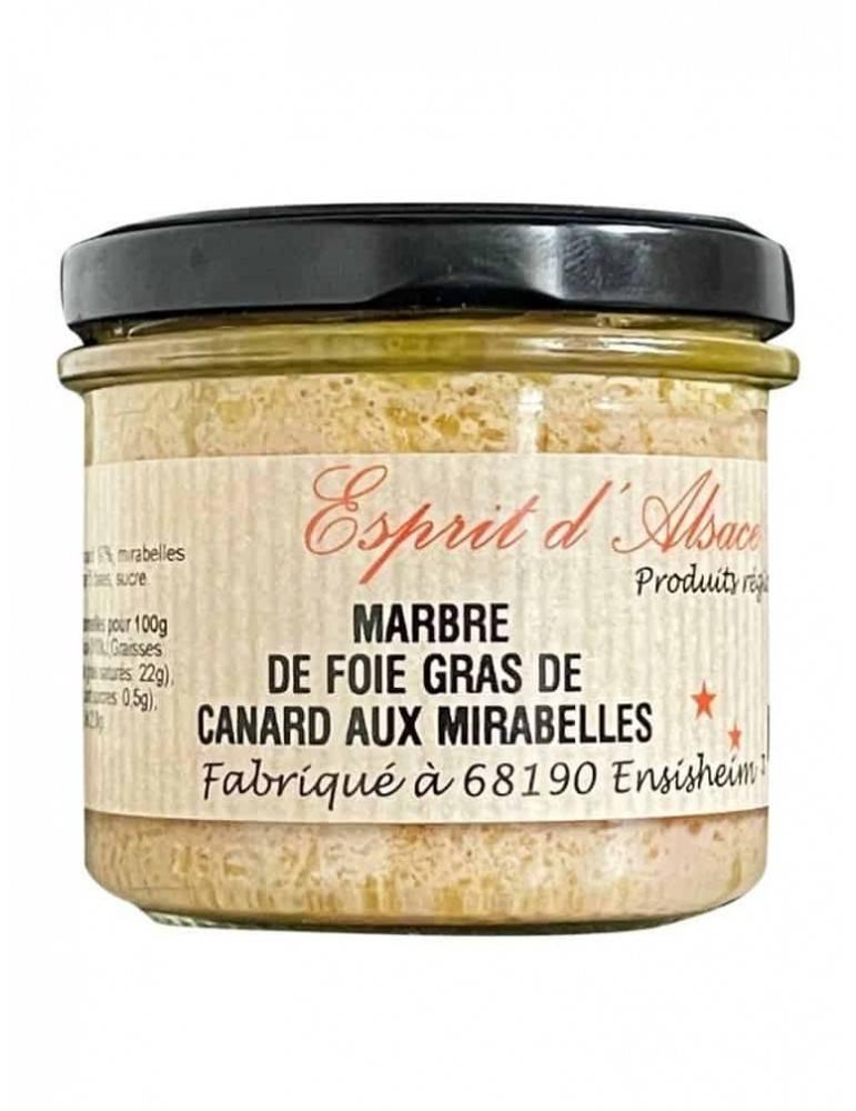 Marbré de Foie Gras de canard d'Alsace au Mirabelle
