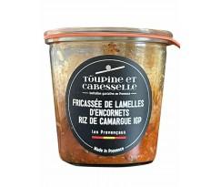 Fricassée de Lamelle d'Encornets et Riz de Camargue IGP