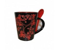Mug Triskell rouge et noir