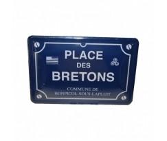 Plaque de rue Bretagne