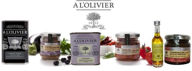 produits à l'olivier